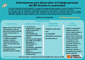 ORIENTACIONES PARA ALUMNADO Y FAMILIAS DEL DEPARTAMENTO DE EDUCACIÓN